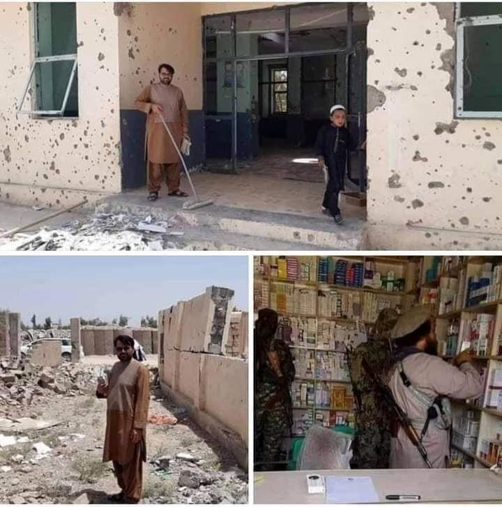غارت و تخریب یک بیمارستان توسط طالبان/عکس