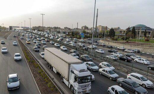 آزادراه کرج-تهران پرترددترین جاده کشور