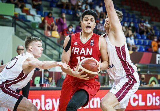 پیروزی بسکتبال جوانان ایران در جام جهانی