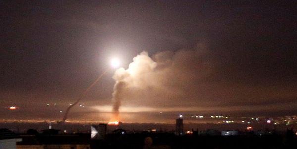 مقابله پدافند هوایی سوریه با اهداف متخاصم در آسمان دمشق/احتمال حمله هوایی اسرائیل