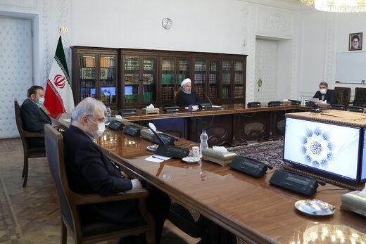 روحانی: فاصلهگذاری اجتماعی با تبدیل به فاصلهگذاری هوشمند ادامه مییابد/ سلامت مردم اولویت اول است