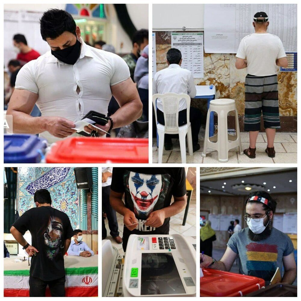 عکس   ظاهرهای متفاوت در انتخابات ریاست جمهوری ۱۴۰۰