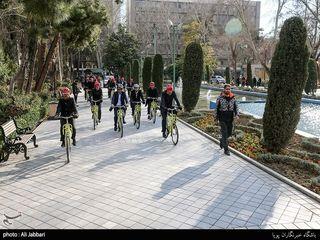دوچرخه سواری شهردار تهران و شهرداران کلانشهرها