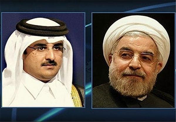 تاکید روحانی و امیر قطر بر توقف فوری حملات علیه فلسطین