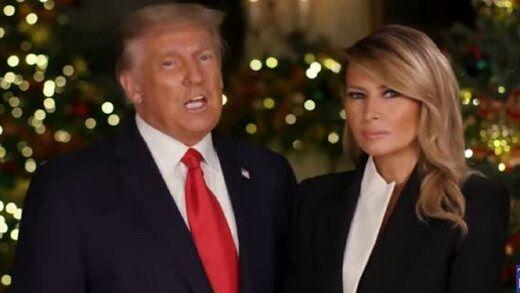 پیام کریسمس ترامپ و ملانیا