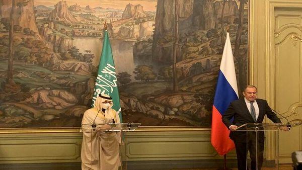 کنفرانس مطبوعاتی لاوروف و وزیر خارجه عربستان