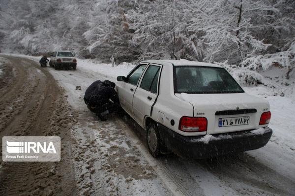 تردد در جاده چالوس بدون زنجیر چرخ ممنوع است