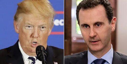 مقام آمریکایی: ترامپ به دنبال ترور بشار اسد بود