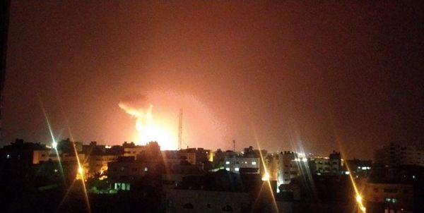 بمباران مناطقی در نوار غزه توسط جنگندههای اسرائیلی