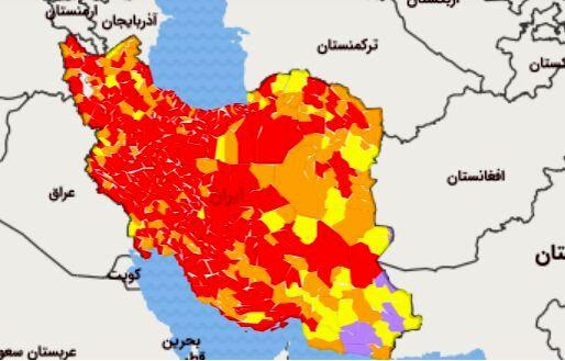 علت قرمز  شدن کویر لوت در نقشه کرونایی کشور