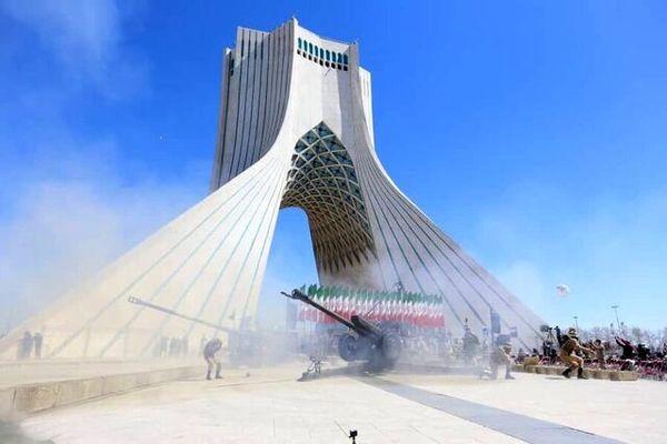 ترک های تازه در برج آزادی پس از شلیک توپ!+ تصاویر