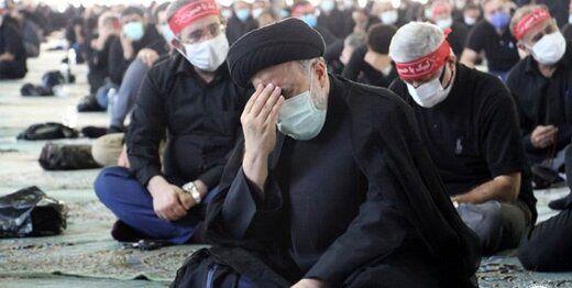 رئیسجمهور در مراسم عزاداری ظهر عاشورا در دانشگاه تهران+عکس