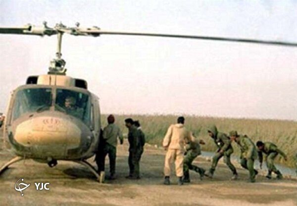 این خلبان ارتش با بالگرد از ارتش بعثی اسیر گرفت + عکس
