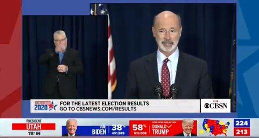 فرماندار پنسیلوانیا: شمارش آرا چهارشنبه تمام نمیشود