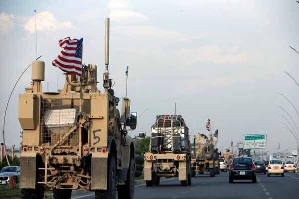 کاروان نیروهای آمریکایی در عراق هدف قرار گرفت