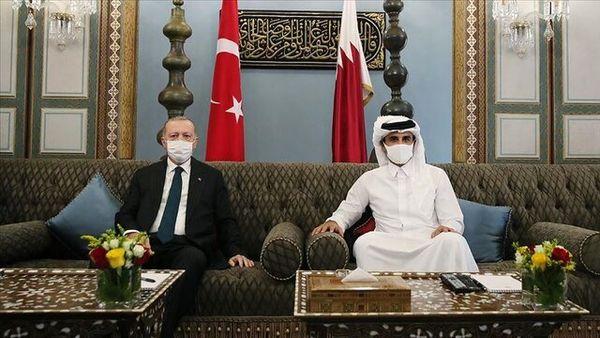 محور گفتگوی تلفنی اردوغان با امیر قطر
