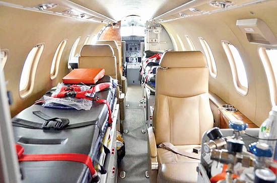 هواپیما- آمبولانس کریس رونالدو