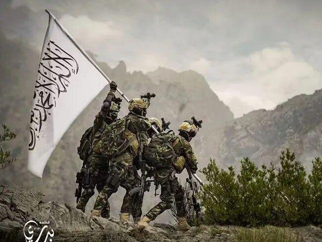 طالبان فتح کابل را با فتح جنگجهانی دوم از سوی آمریکا مقایسه کرد؛برافراشتن پرچم طالبان به جای ایالت متحده/عکس
