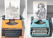نقاشی با ماشینتحریر دستی