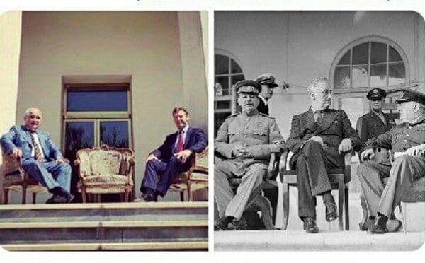 عکس شبیهسازی شده سفیران روس و انگلیس که جنجالی شد