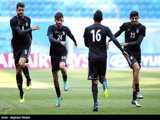 آخرین تمرین تیم ملی پیش از دیدار با مراکش