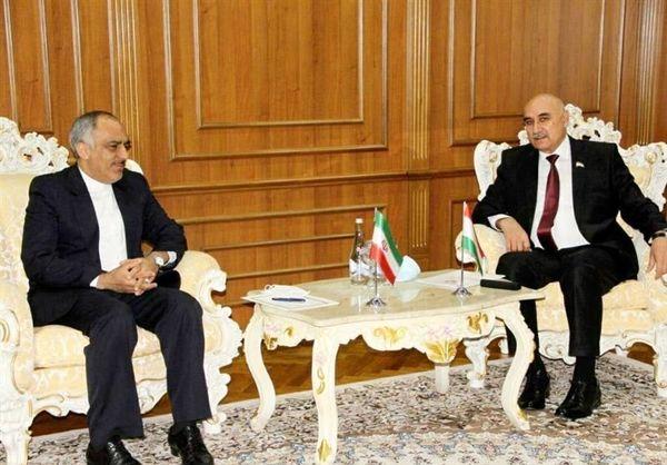 دیدار سفیر ایران با رئیس مجلس تاجیکستان