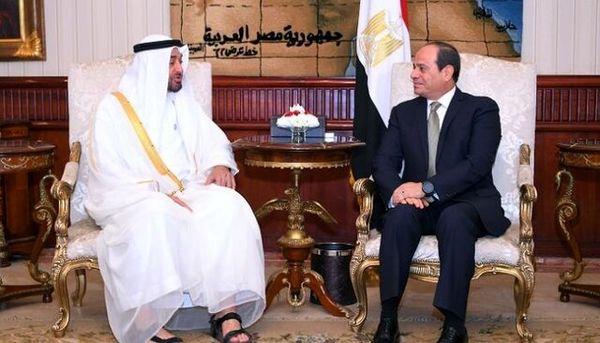 دیدار رئیس جمهوری مصر با ولیعهد ابوظبی
