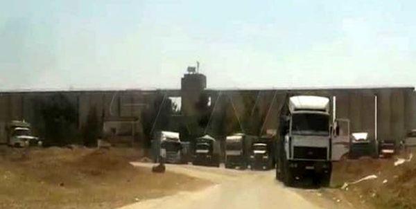 قاچاق  42 کامیون حامل غلات از سوریه به عراق توسط نظامیان آمریکا