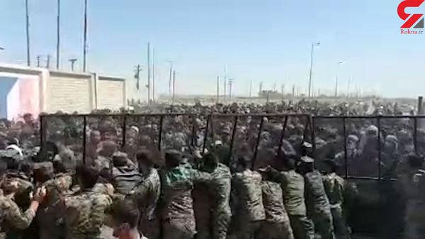 وضعیت اسف بار زائران اربعین در مرز عراق+فیلم