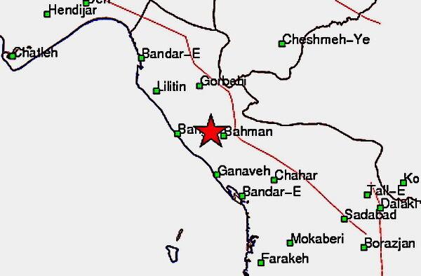 زلزله شدید۵.۲ ریشتری در بندر گناوه