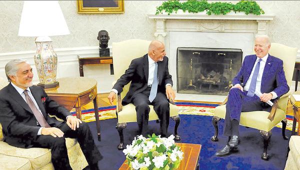 دیدار رهبران افغان با بایدن
