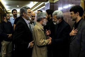 غلامحسین الهام در مراسم ختم دختر عباس سلیمی نمین