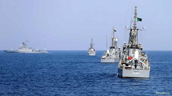 آغاز رزمایشهای دریایی آمریکا و عربستان