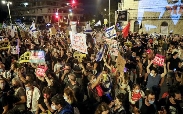 تظاهرات علیه نتانیاهو در اسرائیل