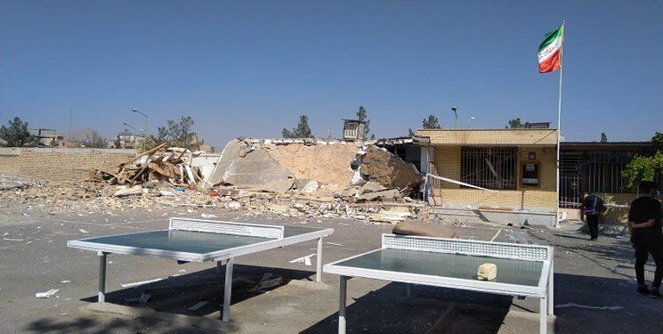 یک مدرسه در فولادشهر به دلیل انفجار تخریب شد/ عکس