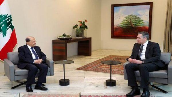 دیدار رئیس جمهوری و نخستوزیر مکلف لبنان برای تشکیل دولت جدید