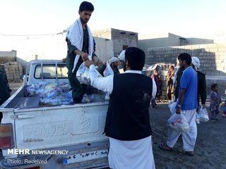 امدادرسانی سپاه در مناطق سیلزده سیستان