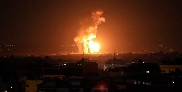 حملات شدید صهیونیستها به نوار غزه