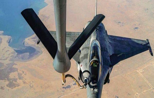 برگزاری رزمایش سوختگیری هوایی توسط نیروی هوایی قطر و آمریکا