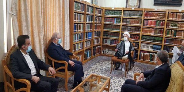 وزیر بهداشت با آیت الله مکارم شیرازی دیدار کرد