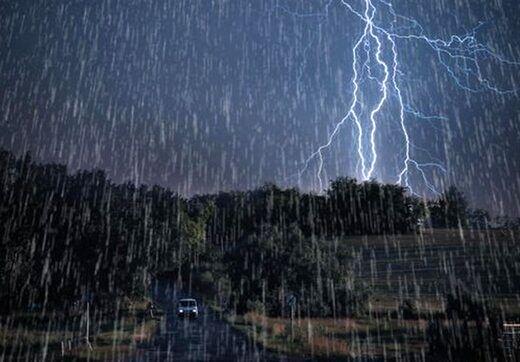 هشدار هواشناسی نسبت به وقوع رگبار و رعد و برق در این مناطق