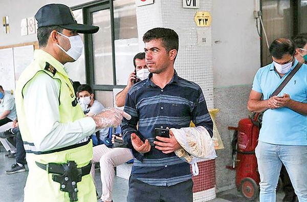 جریمه بدون ماسکها کلید خورد