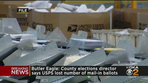 برگه های رای پستی در پنسیلوانیا مفقود شدند