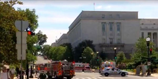 بمبگذاری احتمالی در مجاورت کنگره آمریکا