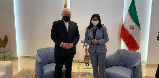 ظریف با معاون مادورو دیدار کرد+ عکس