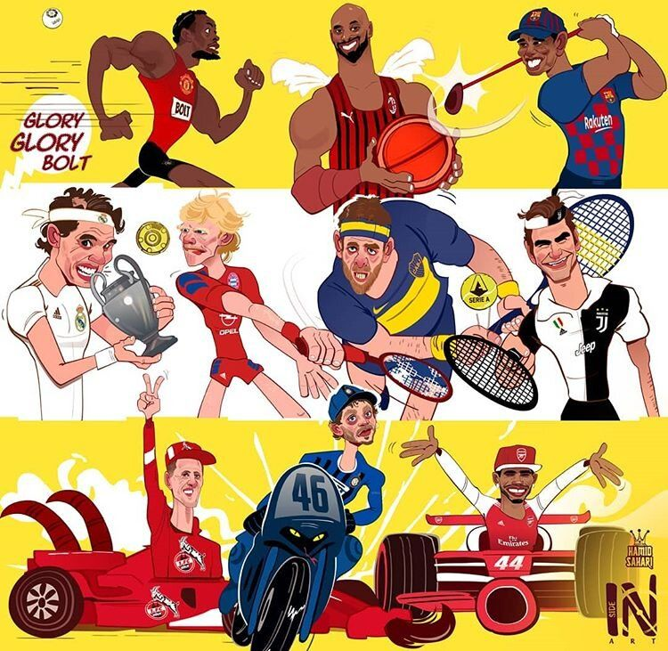 ببینید ورزشکاران معروف به چه تیمهایی علاقه دارند!