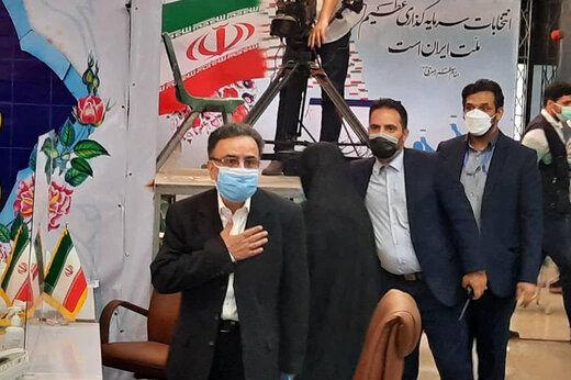 واکنش تاجگردون به حضورش در ستاد انتخاباتی لاریجانی