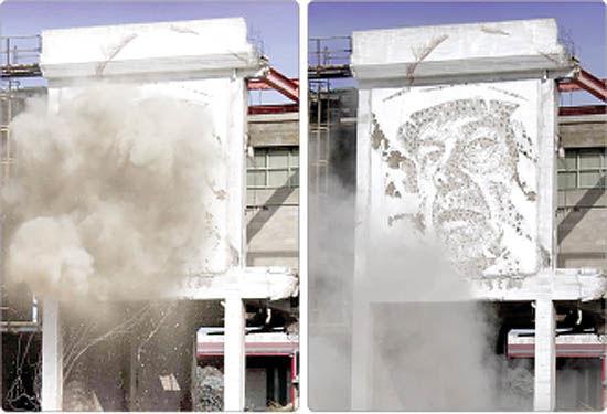 خلق هنر خیابانی با مواد منفجره