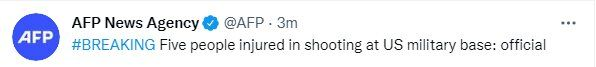 تیراندازی در یک پایگاه نظامی آمریکا/ ۵ نفر زخمی شدند