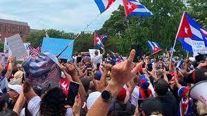 درخواست آمریکا از کوبا برای آزادی معترضان